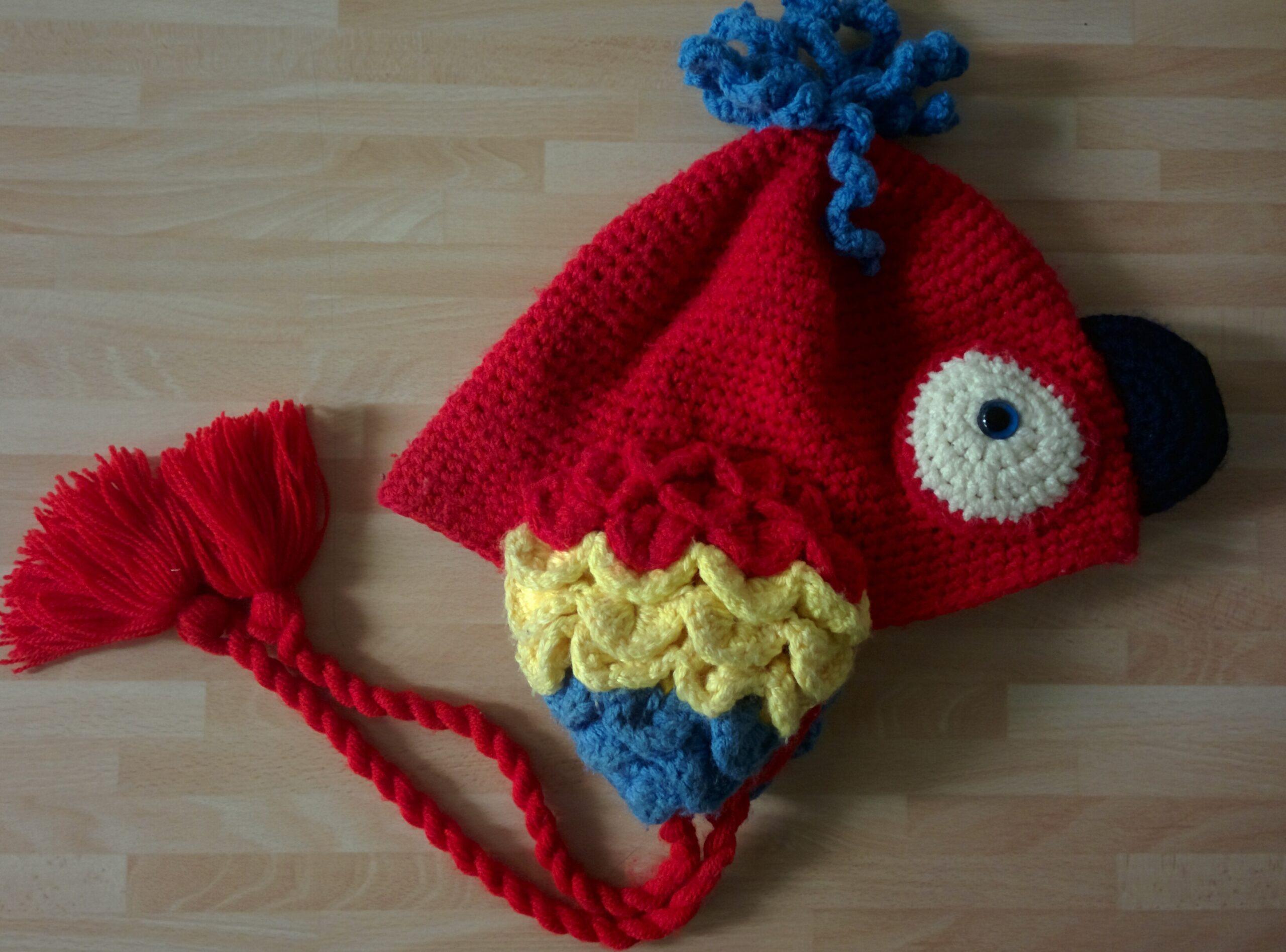 Funky Parrot Crochet Knit